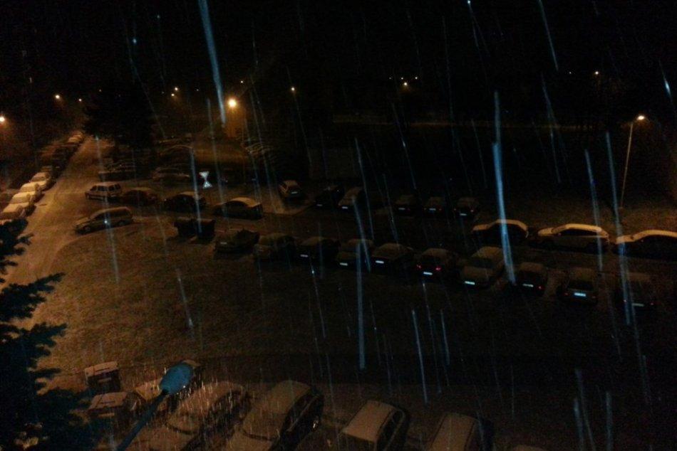 Sneženie v Rožňave
