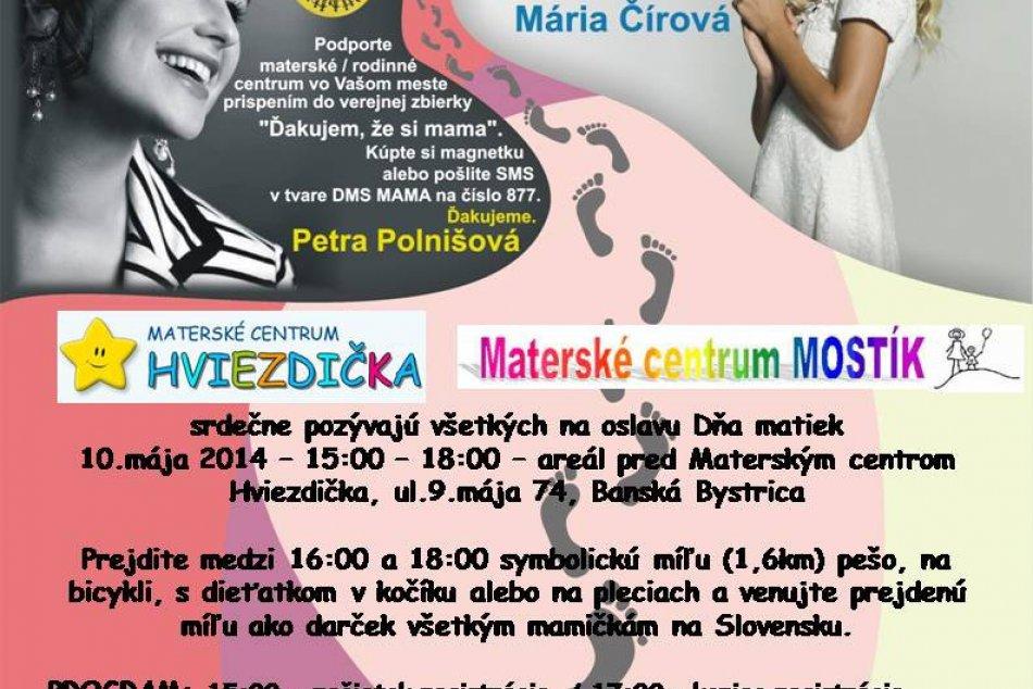 Najväčšia oslava Dňa matiek: Míľa pre mamu v Bystrici, tentoraz s bohatým progra
