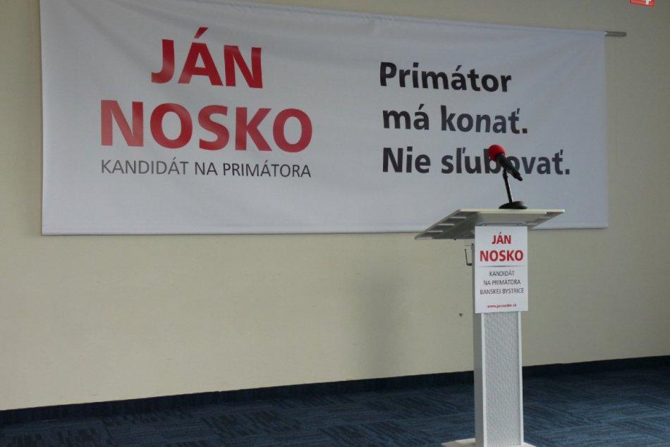 Riaditeľ Detskej fakultnej nemocnice Ján Nosko ohlásil kandidatúru na primátora