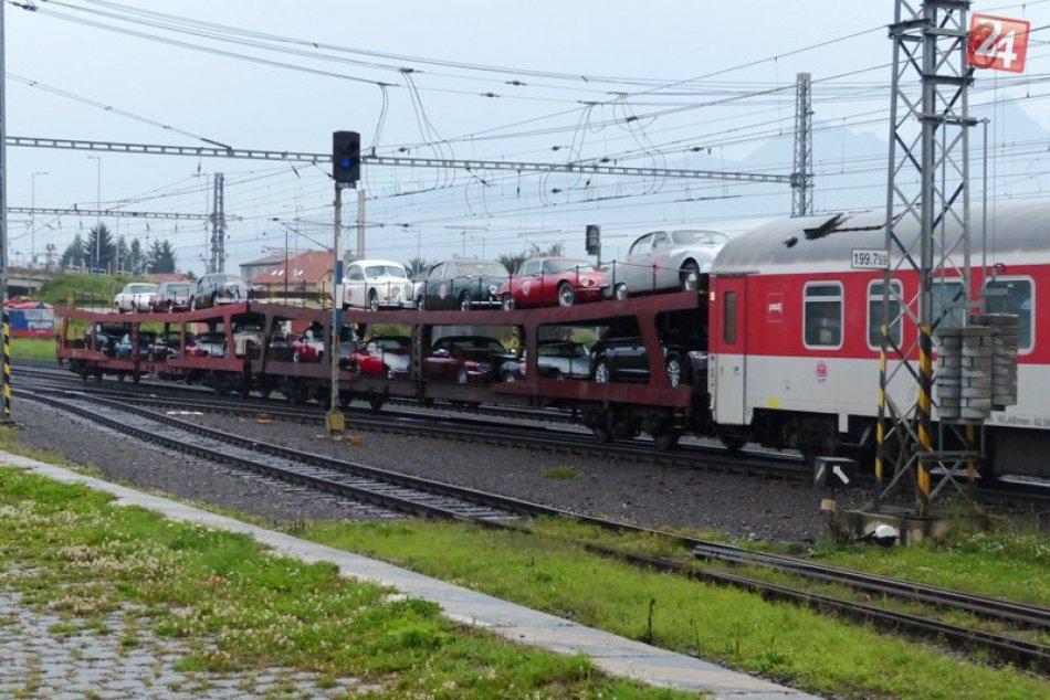 Vzácny náklad na popradskej železnici