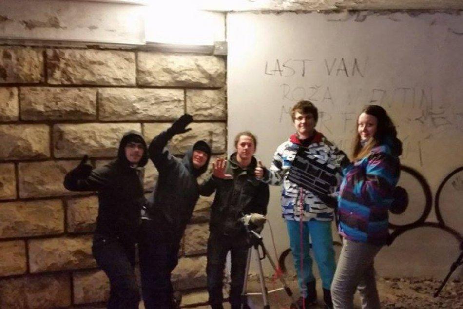 Natáčanie študentského filmu v Poprade