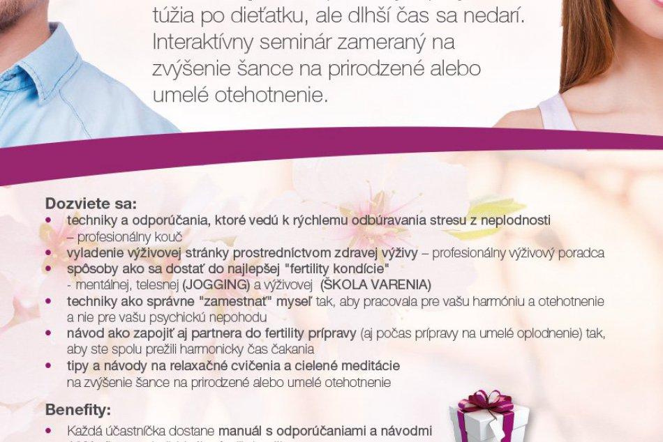 Jarný ozdravný pobyt a konzultácie s odborníkmi na Zámku Vígľaš