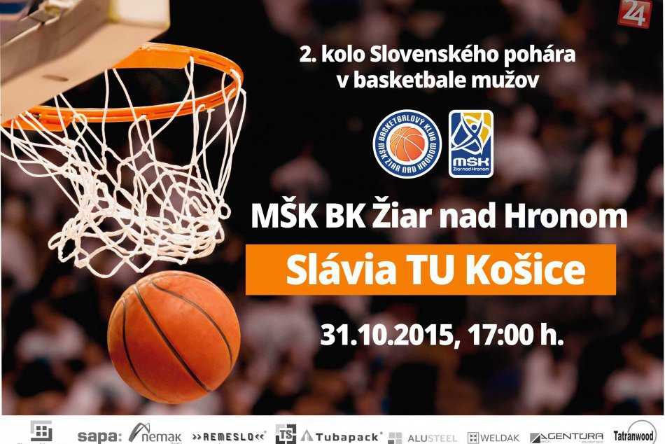 2. kolo Slovenského pohára v basketbale mužov na palubovke žiarskej haly