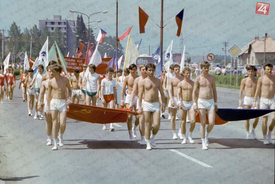 Unikátne zábery z osemdesiatych rokov: Spartakiáda po žiarsky :)
