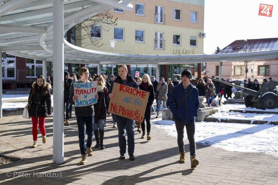 Štrajk študentov v Poprade