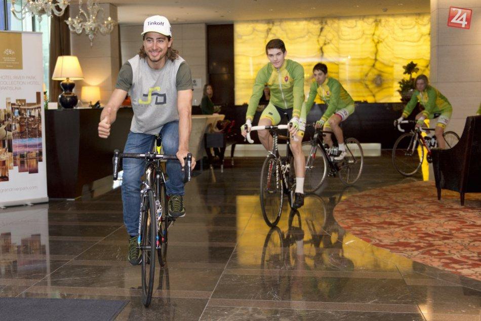 Sagan na otvorení akadémie pre malých cyklistov v Bratislave