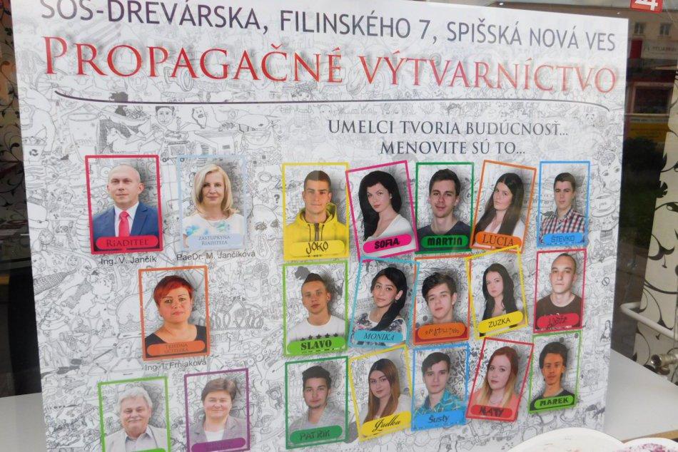 FOTOGALÉRIA: Centrum Spišskej oživili tablá maturantov