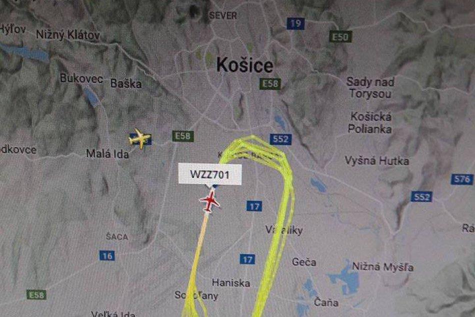 Lietadlo krúžiace nad košickým letiskom vyvolalo zvedavosť i znepokojenie