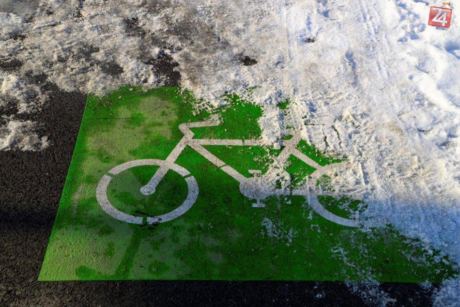 Cyklotrasy pod snehom