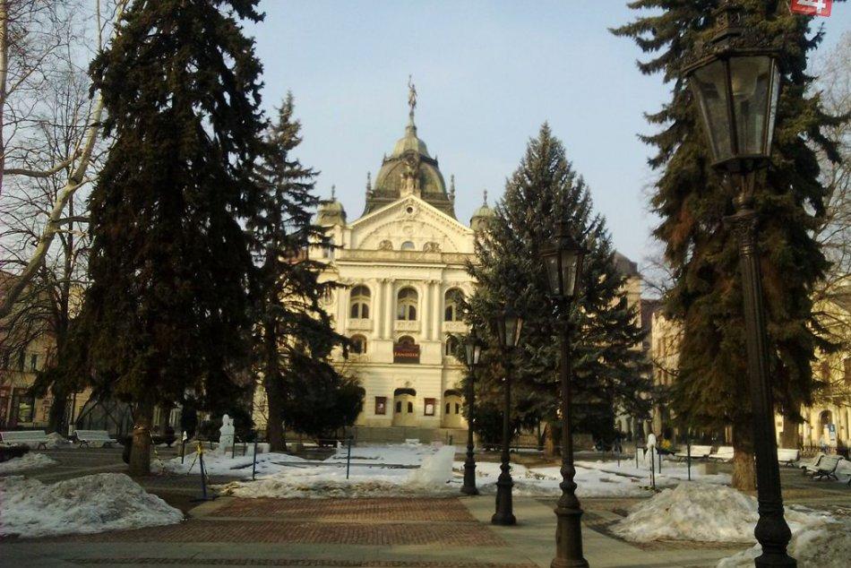 Spievajúca fontána na Hlavnej ulici v Košiciach