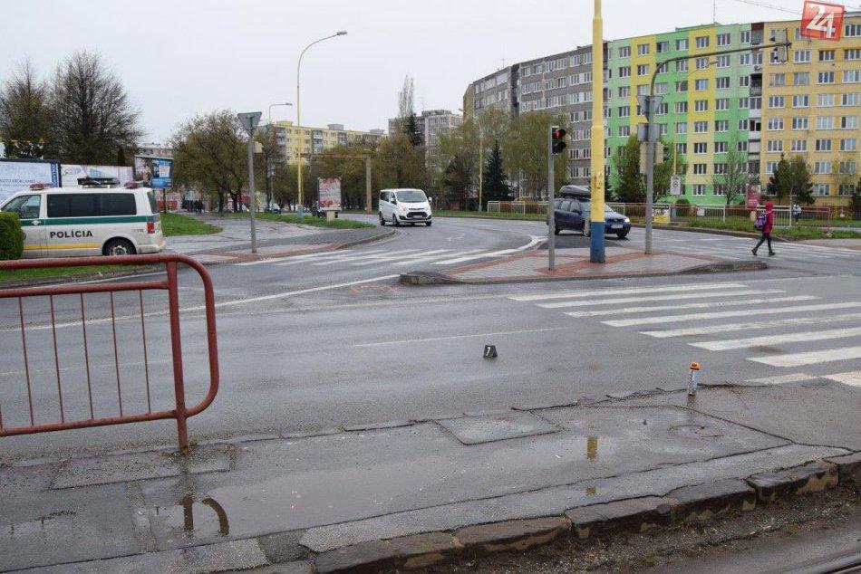 Na Alejovej ulici s Košiciach došlo k zrážke mladej chodkyne
