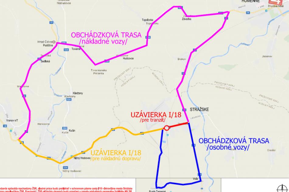 Uzavretá Mierová ulica v Strážskom: Tu sú navrhované obchádzkové trasy