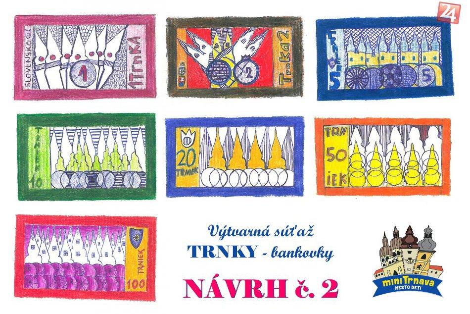 FOTO: Takto vyzerajú súťažné návrhy  detskej meny v Trnave