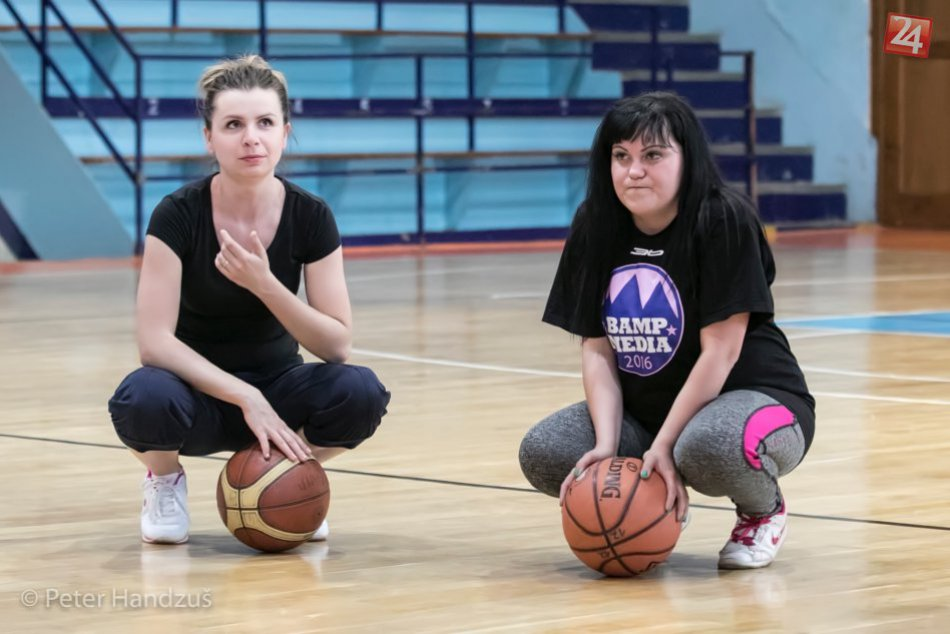 Novinársky basketbalový tréning