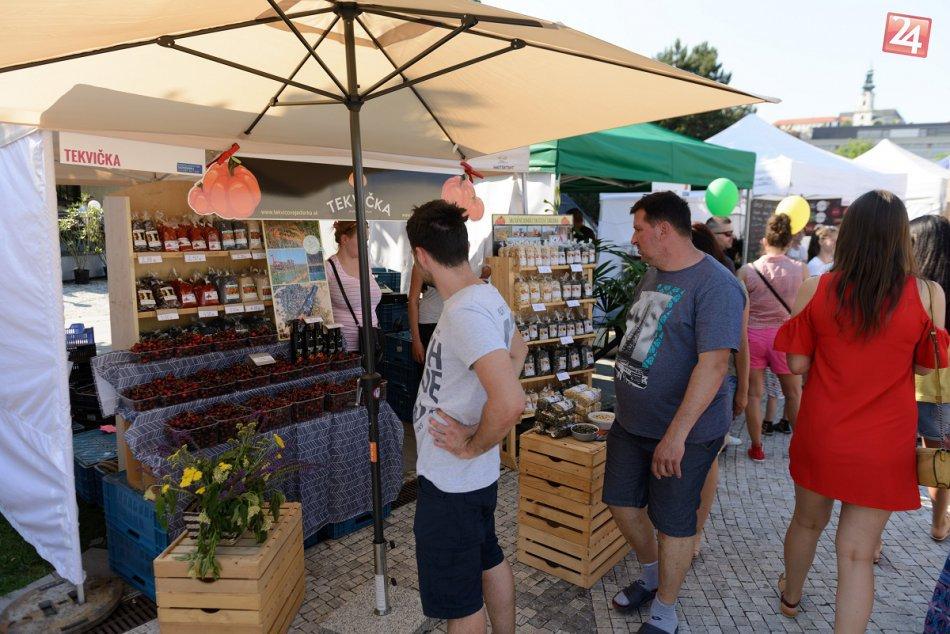 FOTO: Svätoplukovo námestie zaplnili davy ľudí, medzi nimi aj živé sochy