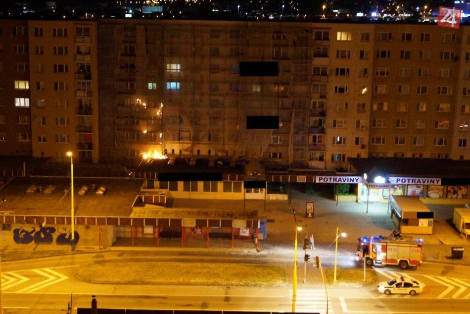 V OBRAZOCH z miesta udalosti: Na sídlisku Šváby vypukol požiar!