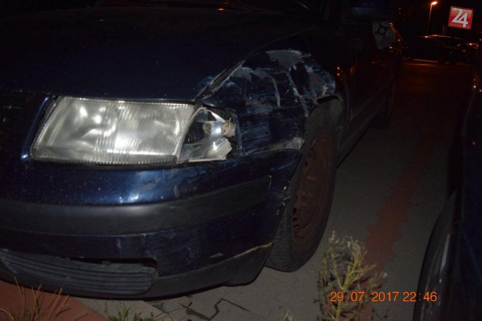 Opitý vodič robil poriadny rachot: Na parkovisku v Nitre narážal do iných áut
