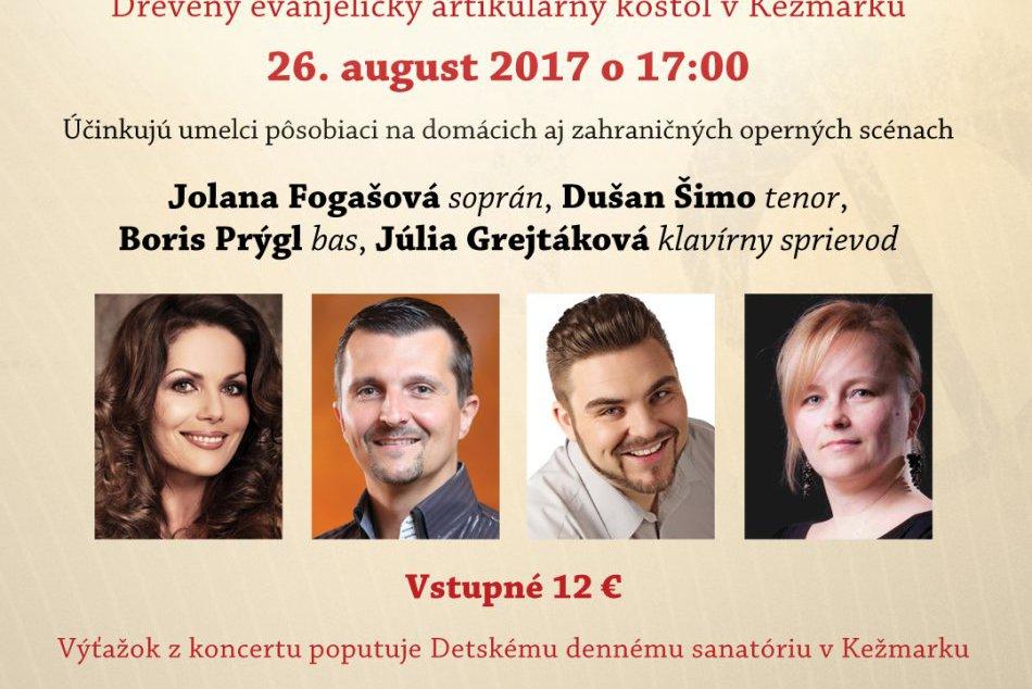 Operné gala v Kežmarku: Vystúpi aj medzinárodne uznávaná sopranistka Jolana Foga
