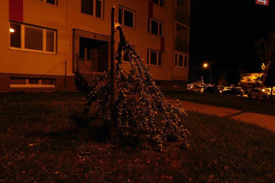 Na Trnavu v noci udrel silný vietor: Aj toto dokázal, FOTO