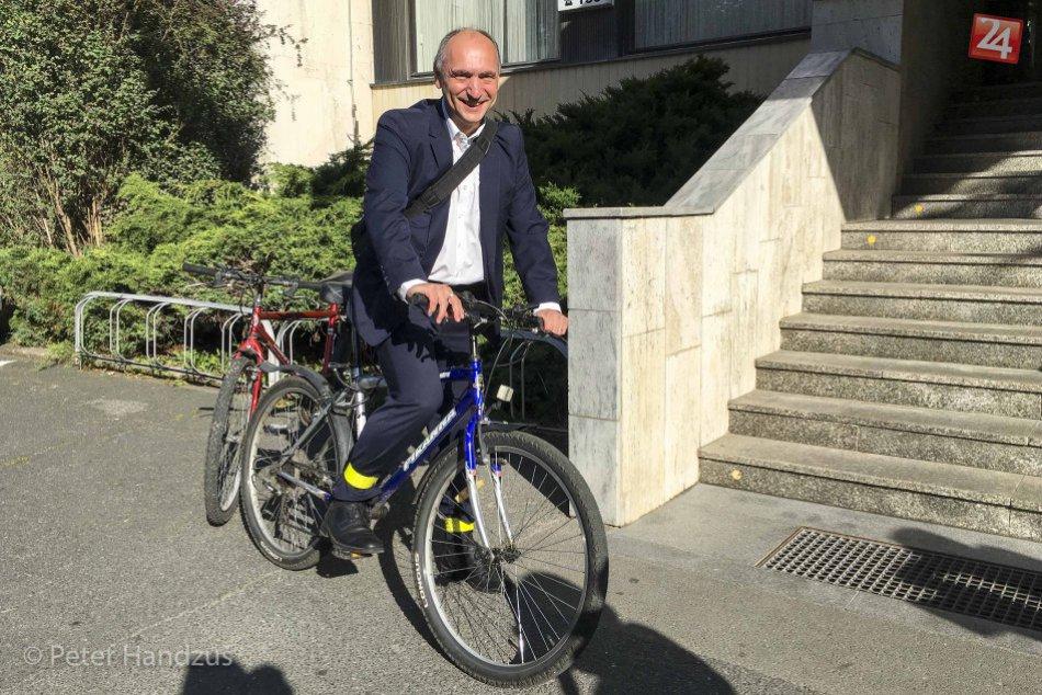 Pavol Gašper na bicykli