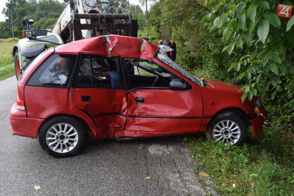 Obrazom: Dopravná nehoda pri Domici