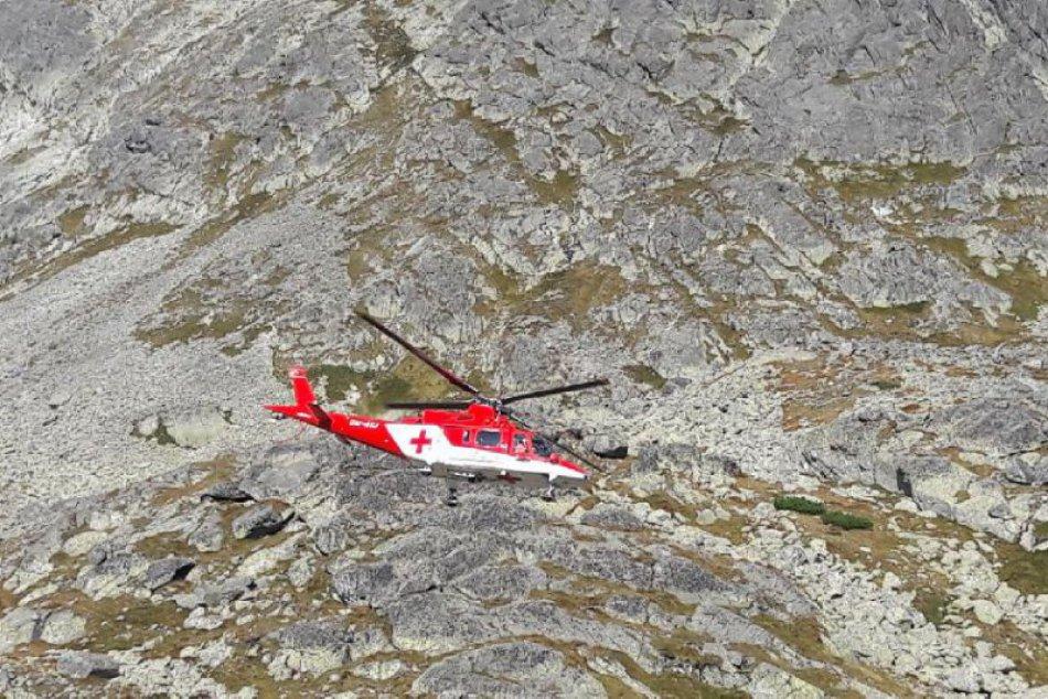 Tri pády horolezcov v Tatrách: Tri akcie záchranárov a poradovník na vrtuľník