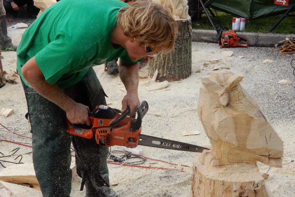 FOTO: Majstri motorových píl premenili kusy dreva na krásne umelecké diela