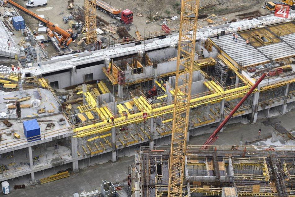 Výstavba Národného futbalového štadióna na Tehelnom poli (september, 2017)
