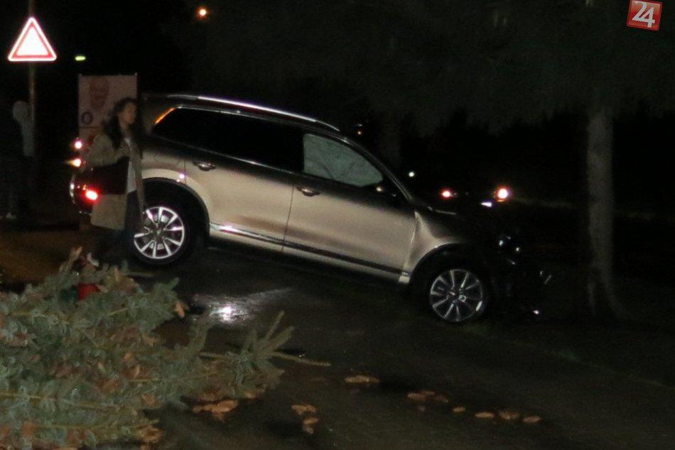 Nehoda v centre Považskej: Zrážka áut pri padnutom strome