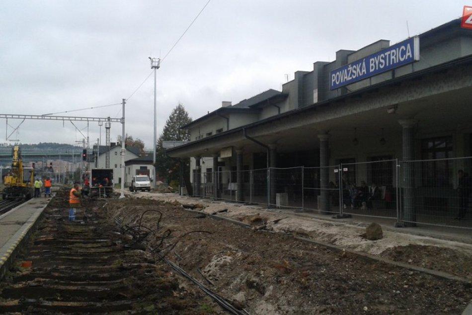 Považskobystrická stanica sa modernizuje: Pozrite, ako to na nej vyzerá