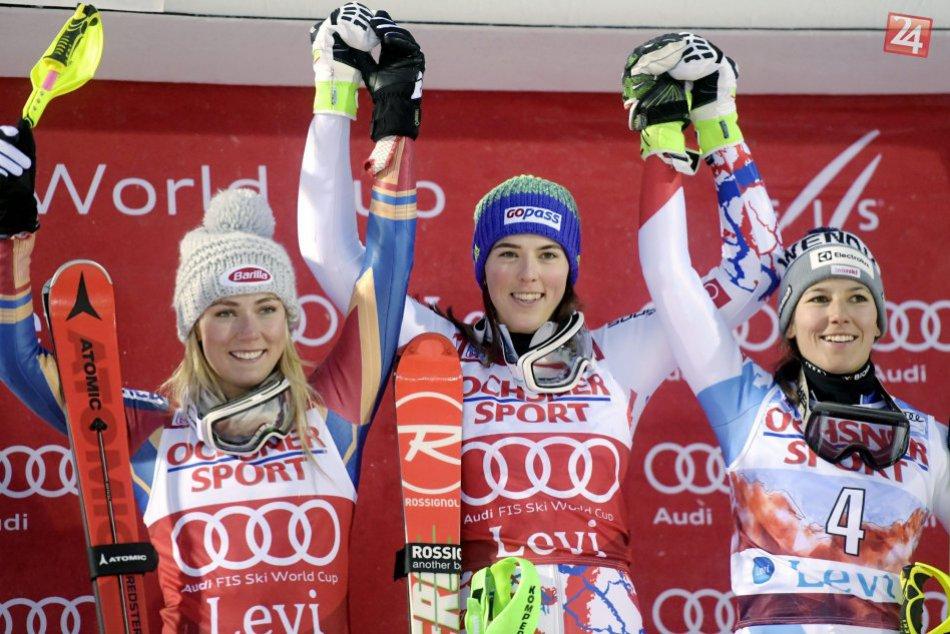 V OBRAZOCH: Vlhová vyhrala vo fínskom Levi prvý slalom sezóny