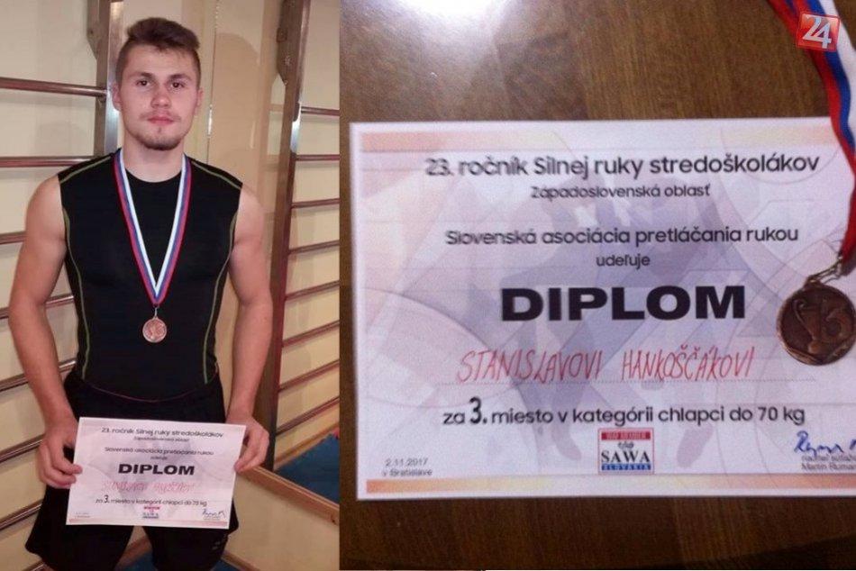 FOTO: Hlohovčan Stanislav Hankoščák úspešný na súťaži v armwrestlingu