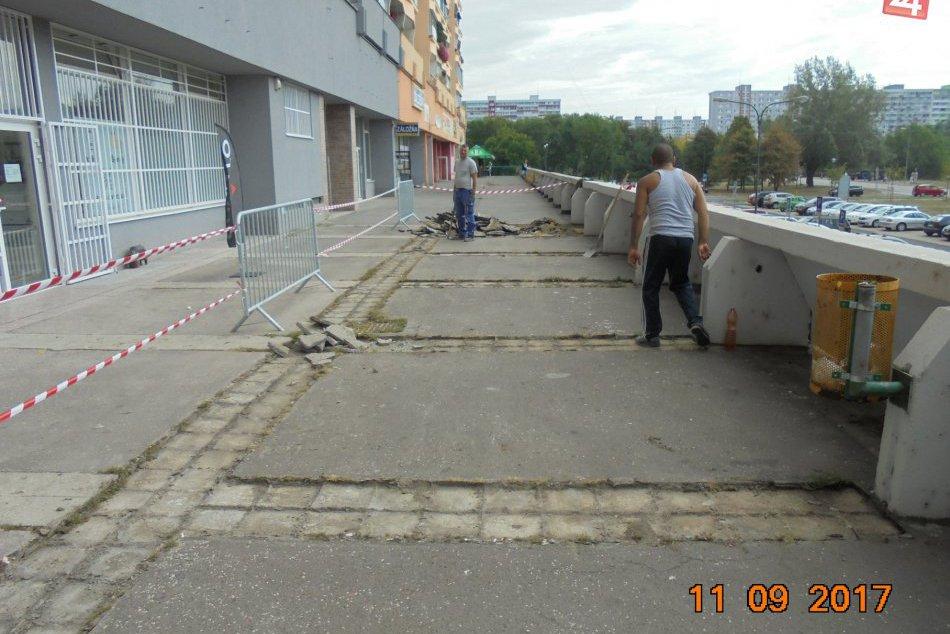 Oprava terasy v Petržalke