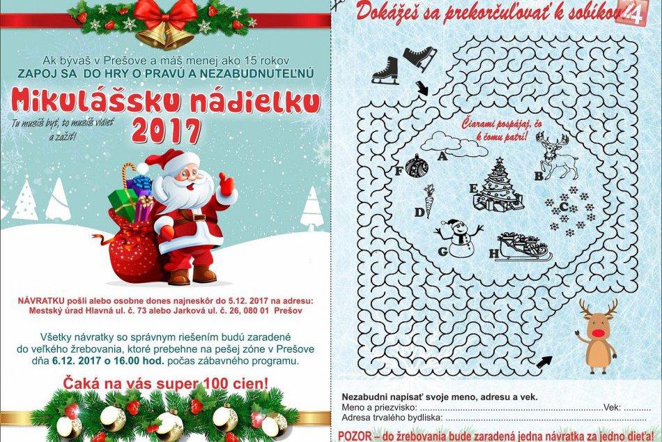 Do Prešova zavíta Mikuláš, deti môžu využiť šancu na výhru