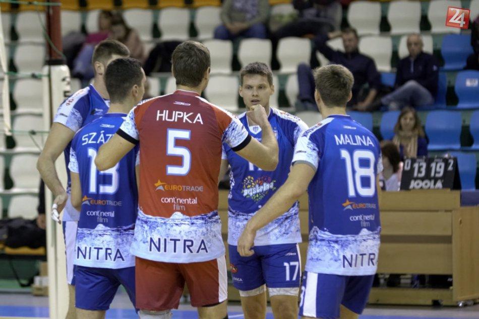Posledné domáce zápasy zvládla Nitra na výbornú: Volejbalisti nedali súperom šan