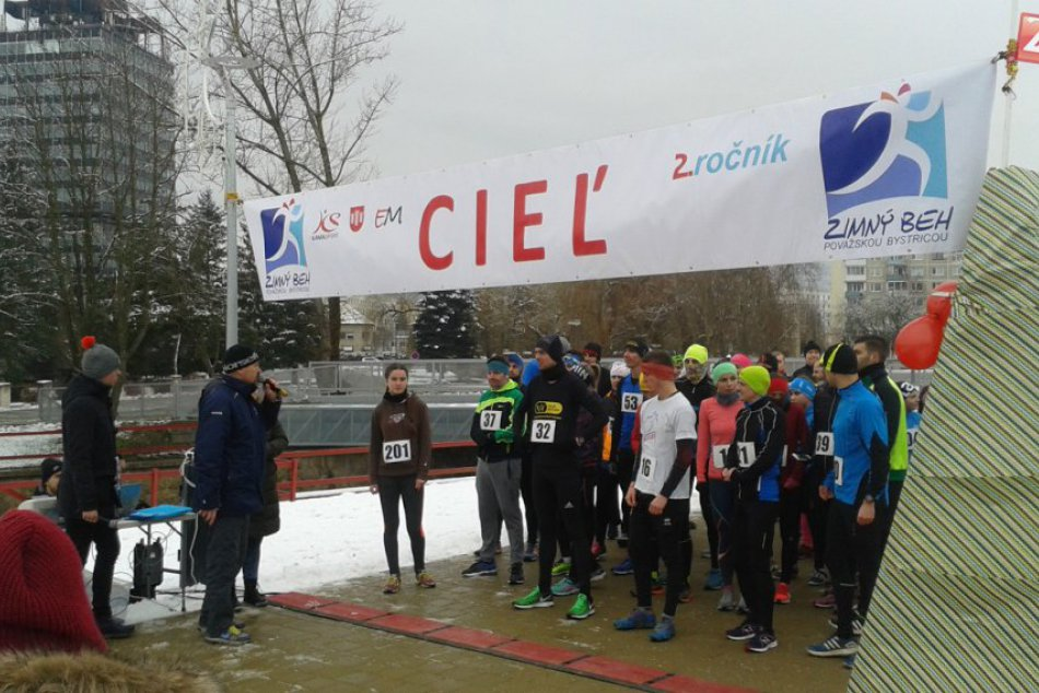 Aj v chlade sa v Považskej Bystrici športuje: Zábery zo zimného behu