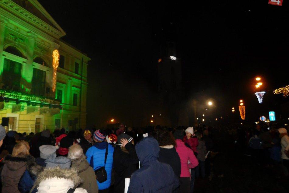 Obrazom: Zábery z vítania nového roku 2018 v Spišskej