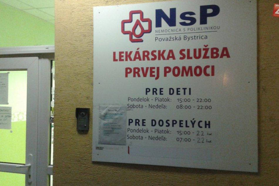 Pohotovosť v Považskej Bystrici: Po novom je v noci zatvorená