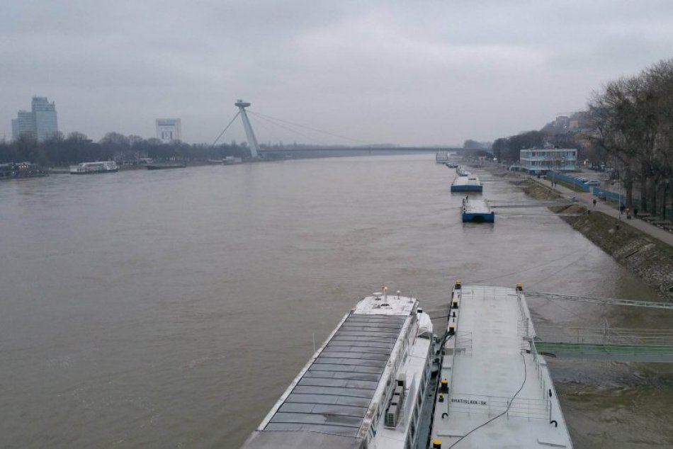 Hladina Dunaja 6. január 2018