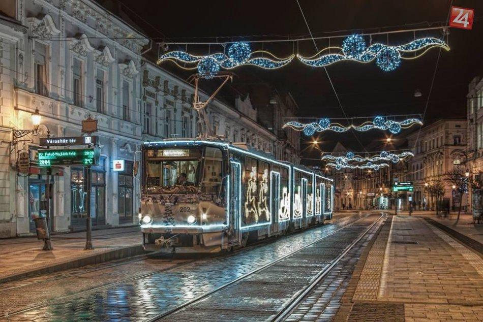 Najkrajšia vianočná električka 2017