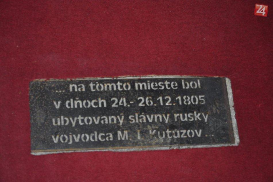 Odhalenie pamätnej tabule Kutuzova