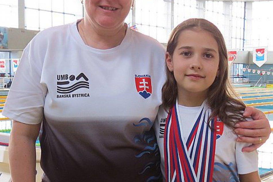 V OBRAZOCH: Plavkyňa Malíková z UMB získala 5 medailí  v Slovenskom pohári