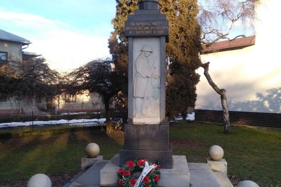 V OBRAZOCH: Pamätník obetiam Veľkej vojny v Sliači