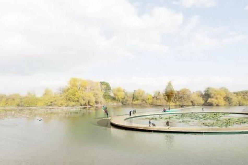 FOTO: Vizualizácia nového projektu. Kruhové mólo na Kamennom mlyne.