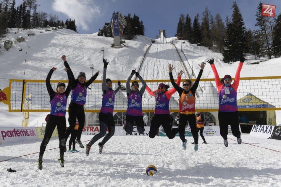 Historicky prvé majstrovstvá Slovenska vo volejbale na snehu sú minulosťou