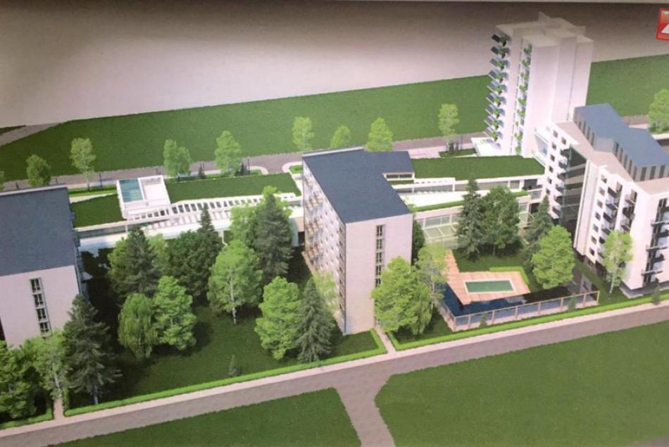 Architektonická štúdia LUČENEC - BYTOVÝ KOMPLEX na mieste bývalého internátu