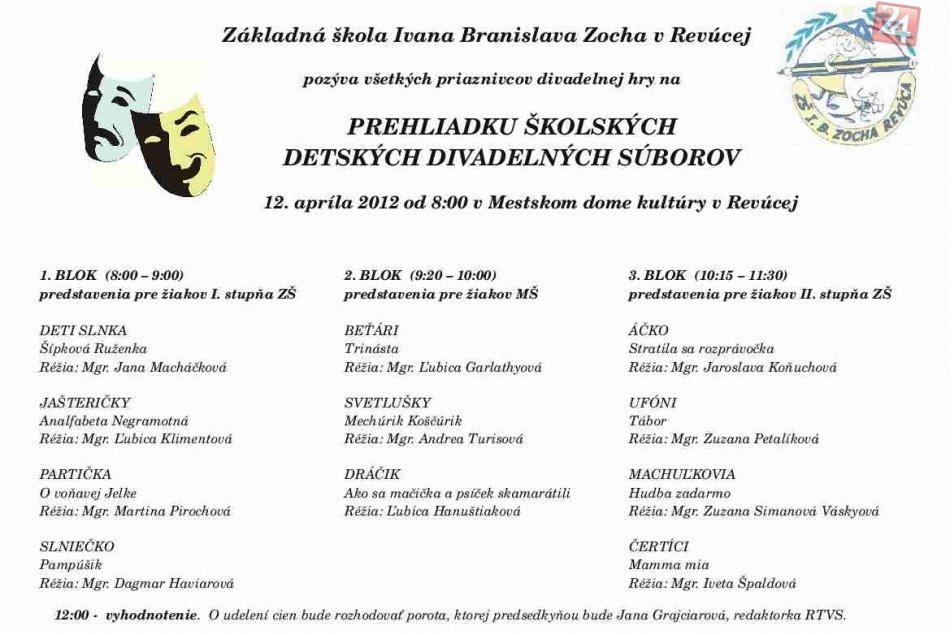 divadlo Zocha prehliadka