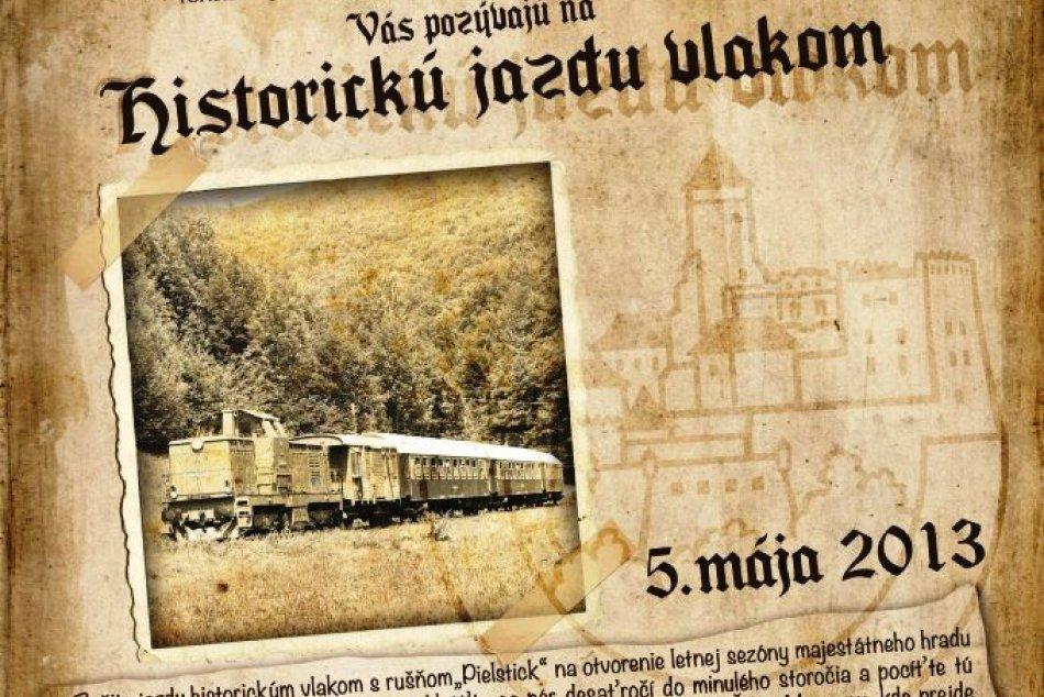 Jazda historickým vlakom - otvorenie sezóny na hrade Ľubovňa