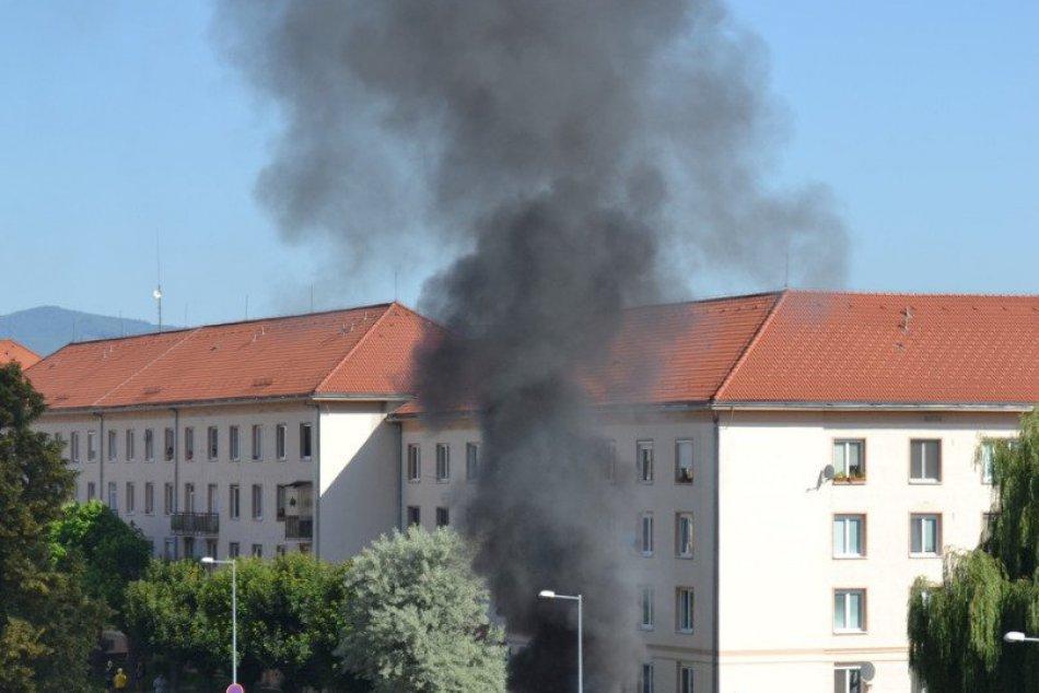 Výbuch auta v Žiari