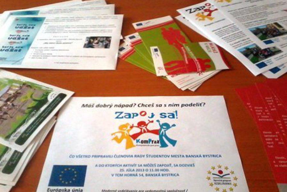 Nový projekt pre banskobystrickú mládež mapuje aktivity a možnosti v meste